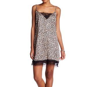 NWT Leopard Printed Slip Dress